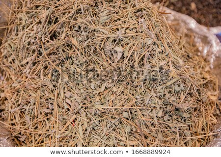 Dried grass of directness and seasonings sold in Asian markets Stock photo © ElenaBatkova