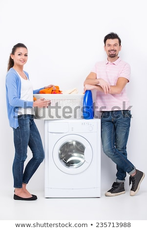 Appliance in Bathroom, Machine for Doing Laundry Stock photo © robuart