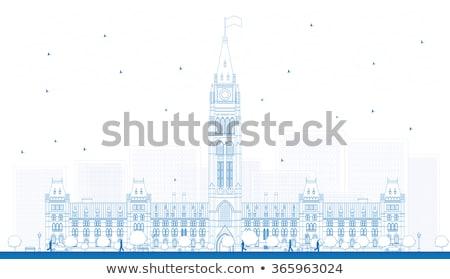 Outline Library of Parliament, Ottawa, Ontario, Canada. Stock photo © ShustrikS