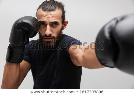 Obraz muskularny sportowiec dres Zdjęcia stock © deandrobot