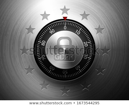 GDPR General Data Protection Regulation. Internet business guard padlock with EU stars. Privacy Stock photo © Iaroslava