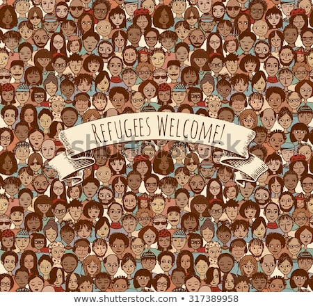 Immigration Refugee Seamless Pattern Vector Stock photo © pikepicture