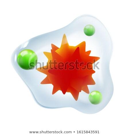 Infecção microscópico vermelho núcleo bactérias vetor Foto stock © pikepicture