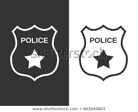 Politie afdeling kleur vector iconen Stockfoto © ayaxmr