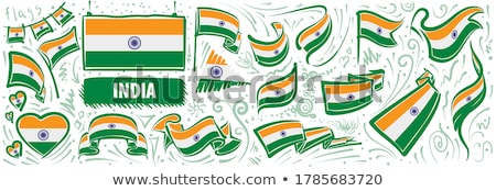 вектора набор флаг Индия различный Creative Сток-фото © butenkow