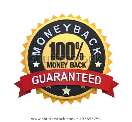100% Percent Money Back Guarantee Stamp Mark Seal Sign Black and White Stock photo © patrimonio