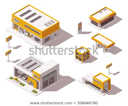 Car Dealership Shop Isometric Icons Set Vector Stock photo © pikepicture