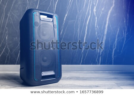 Wireless altoparlante bianco musica speaker suono Foto d'archivio © magraphics