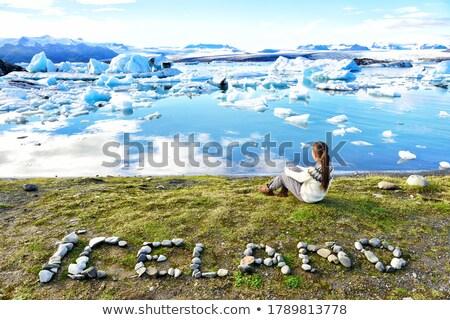 Islândia natureza paisagem texto escrito rochas Foto stock © Maridav