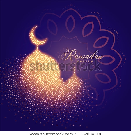 glowing mosque and lights muharram festival background Stock photo © SArts