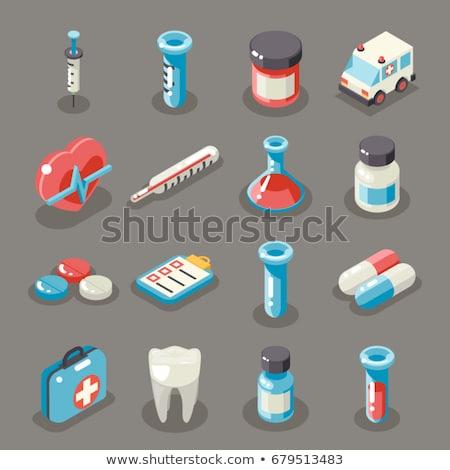 Hartziekte isometrische icon vector teken kleur Stockfoto © pikepicture