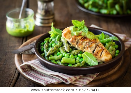 Cooking green peas Stock photo © simply