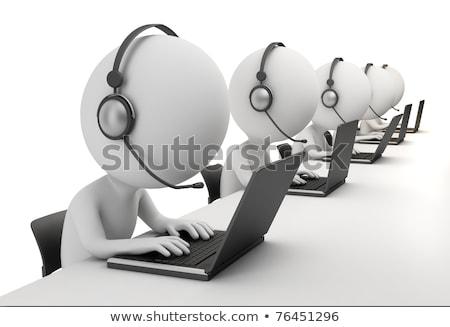 Stock foto: 3D · wenig · Menschen · Laptop · Person · stehen