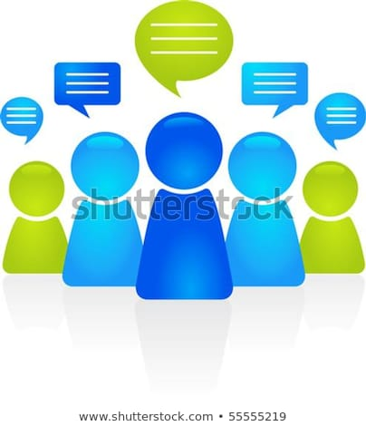 abstract business people figures with speech bubbles stock photo © dacasdo