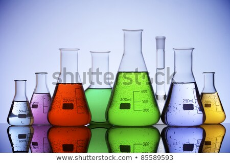 Erlenmeyer flask with red chemical inside Stock photo © erierika