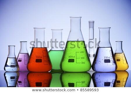 Rouge chimiques à l'intérieur liquide solution Photo stock © erierika