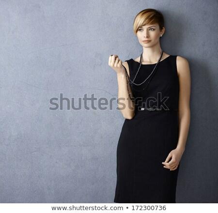Mulher preto pérola colar Foto stock © RTimages