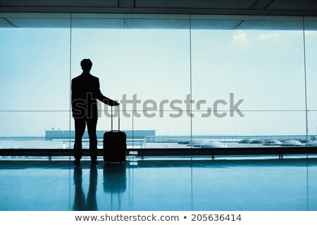 airport and silhouette of passenger stock photo © ssuaphoto