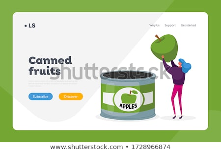 Food Canning Business Woman Concept Stock photo © Amosnet