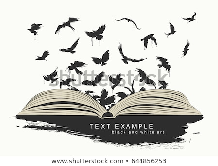 text idea on open white book Stock photo © Sarunyu_foto
