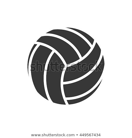 sport · golyók · ikon · narancs · fekete · futball - stock fotó © chromaco