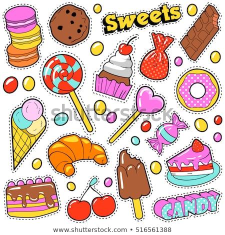 Cute конфеты шаблон десерта розовый Сток-фото © kariiika