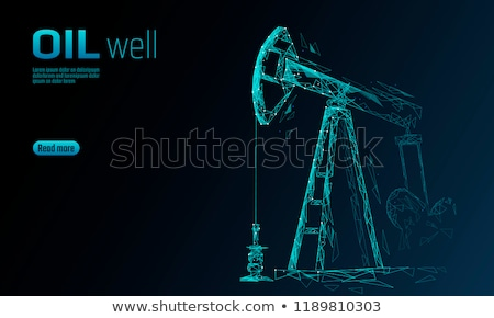 oil well in the field sky stock photo © justinb