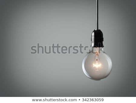 Bulb light over grey Stock photo © antonprado