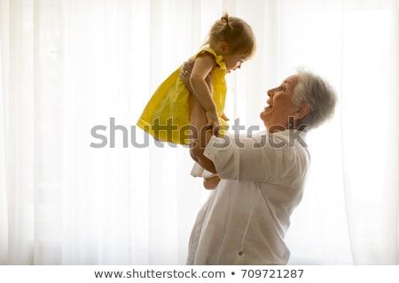 Stock foto: Großmutter · Kind · Familie · Buch · Frauen · glücklich