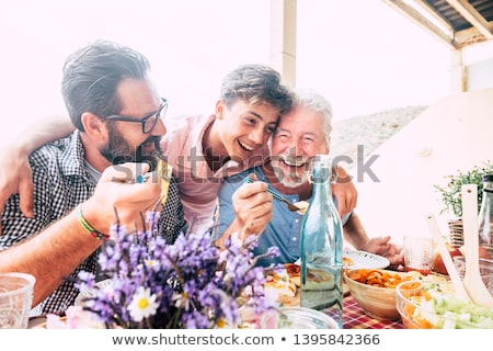 three seniors having lunch in the country Stock photo © photography33