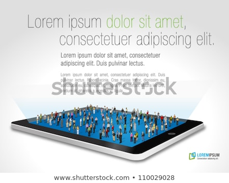 empresario · botón · virtual · toque · Internet - foto stock © leedsn