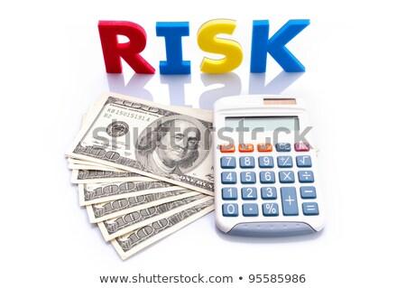 kockázat · visszatérés · szavak · jegyzetek · papír · cél - stock fotó © Ansonstock