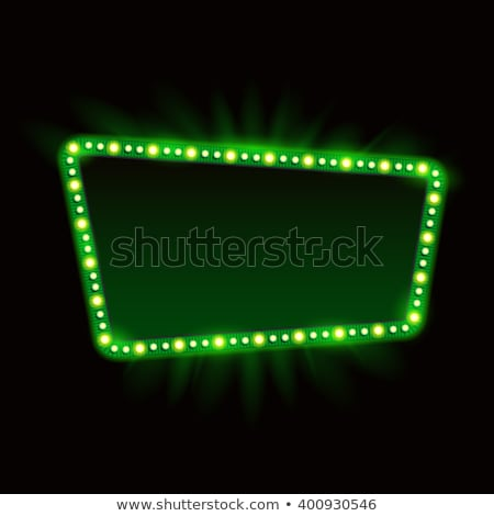 Green retro frame Stock photo © simo988