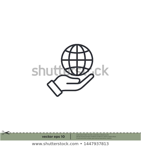 Hands holding a Web Design Sphere Stock photo © kbuntu