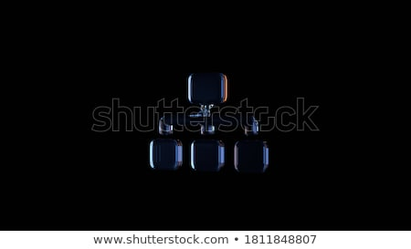 abstract glossy blue sitemap icon Stock photo © pathakdesigner