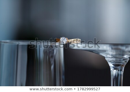 Diamond And Gems From Wine Glass Stock photo © Kacpura