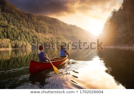canoeing stock photo © abdulsatarid