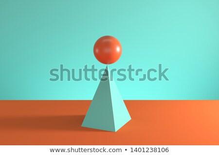 пирамида женщины Рисунок 3D футуристический Сток-фото © sirylok
