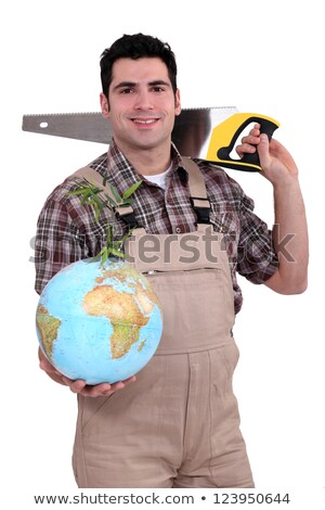 Tradesman dedicated to developing the world Stock photo © photography33