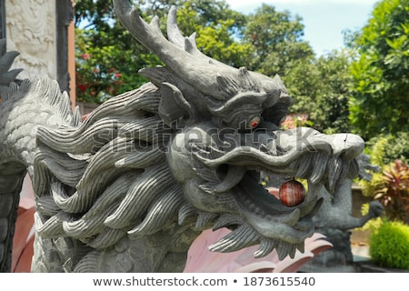 dragon statue in budhist temple stock photo © clearviewstock