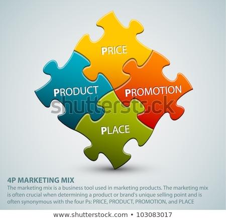 Vector 4P marketing mix model illustration Stock photo © orson