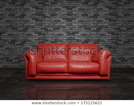 Stock photo: Modern armchair with frame isolated on black background