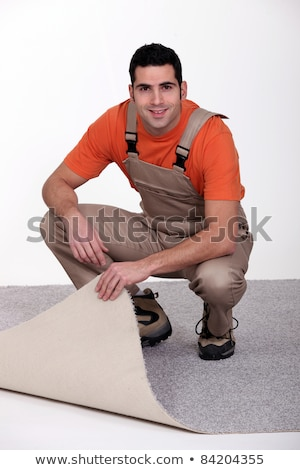 craftsman changing the carpet Stock photo © photography33