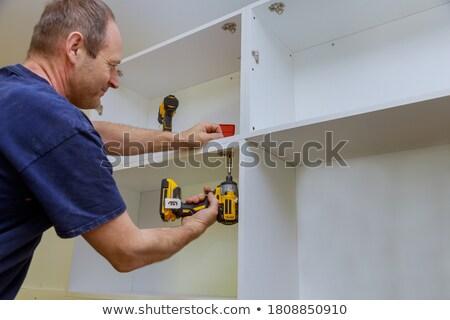 плотник шкаф двери человека домой Сток-фото © photography33