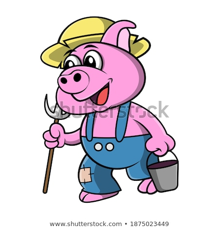 Cartoon cowboy ready to draw. Stock photo © antonbrand