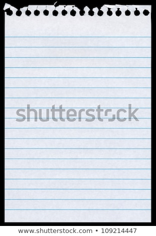 White lined blank torn notepaper page isolated black background. Stock photo © latent