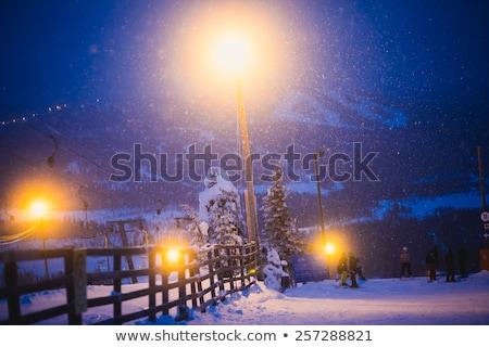 Slope on the skiing resort Rovaniemi, Finland Stock photo © RuslanOmega