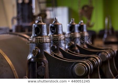 Fekete pisztoly stúdió fotózás fehér hát Stock fotó © prill