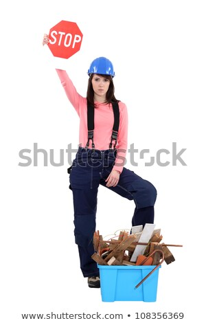 woman stopping construction waste stock photo © photography33