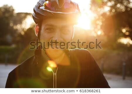 Close up shot of smiling male in sportswear stock photo © stockyimages